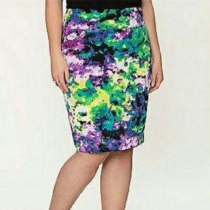 Lane Bryant Multicolored Pencil Skirt Size 24
